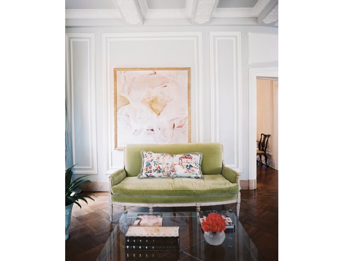 KMID_Green Settee_Boston Interior Design